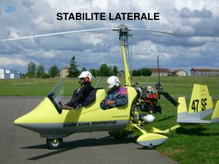 STABILITE LATERALE