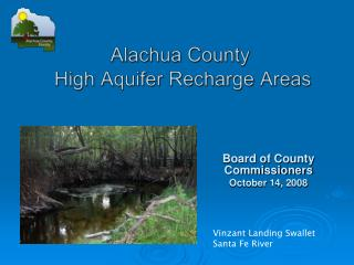 Alachua County   High Aquifer  Recharge  Areas