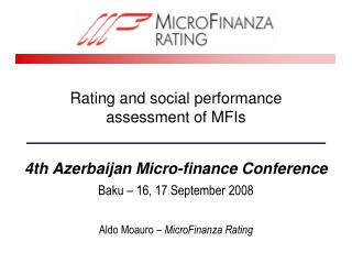 Rating and social performance assessment of MFIs