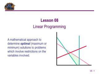 Lesson 08 Linear Programming