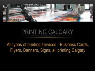 Printing Services Calgary