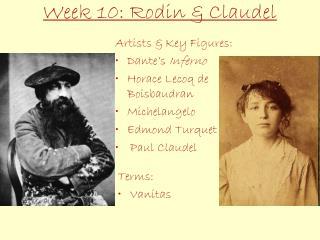 Week 10: Rodin & Claudel