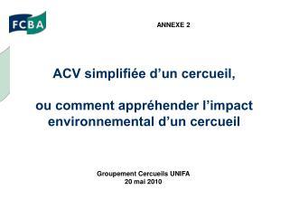 ACV simplifiée d'un cercueil, ou comment appréhender l'impact environnemental d'un cercueil