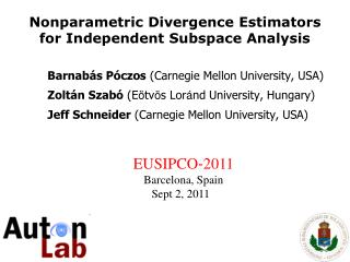Nonparametric Divergence Estimators for Independent Subspace Analysis