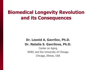 Biomedical Longevity Revolution and its Consequences