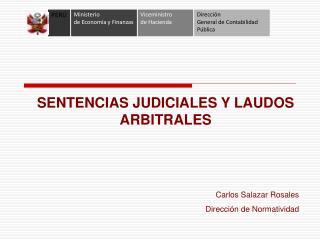SENTENCIAS JUDICIALES Y LAUDOS ARBITRALES