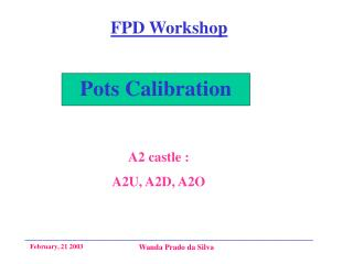 Pots Calibration
