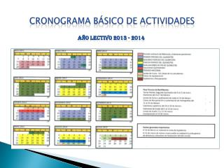 CRONOGRAMA B�SICO DE ACTIVIDADES