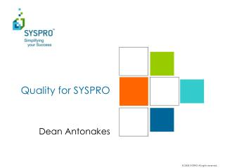 Quality for SYSPRO