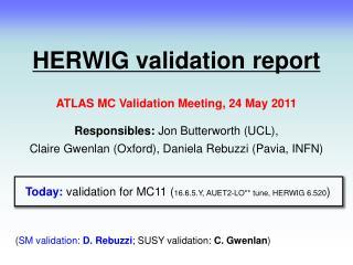 HERWIG validation report
