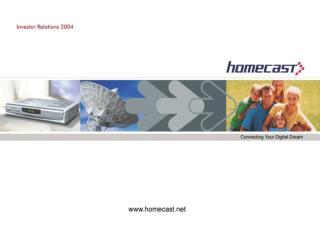 이엠테크닉스에서 홈캐스트로 D-STB  시장 분석 2003 년 실적과 분석 2004 년 성장전략 Vision 2006 Appendix