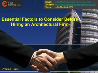 Essential Factors to Consider Before Hiring an Architectural