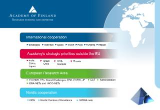 Academy's strategic priorities outside the EU