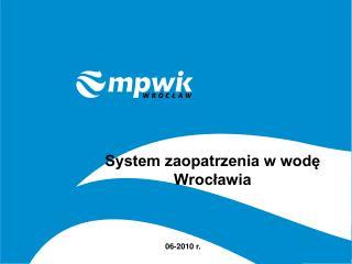 System zaopatrzenia w wodę Wrocławia