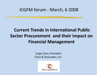 ICGFM forum - March, 6 2008
