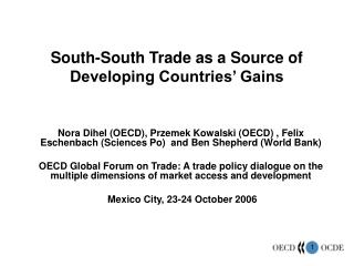 South-South Trade as a Source of Developing Countries  Gains