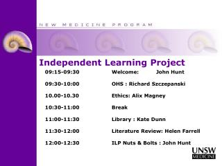 Independent Learning Project