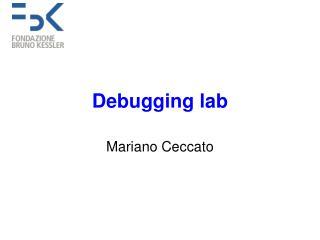Debugging lab