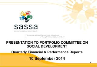 PRESENTATION TO PORTFOLIO COMMITTEE ON SOCIAL DEVELOPMENT