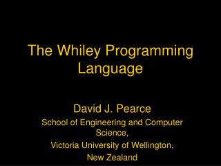 The Whiley Programming Language