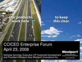 CCICED Enterprise Forum April 23, 2008