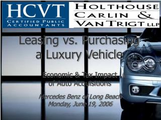 Leasing vs. Purchasing a Luxury Vehicle
