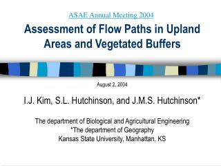 Assessment of Flow Paths in Upland Areas and Vegetated Buffers