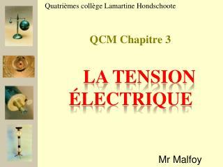 QCM Chapitre 3