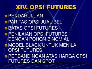 XIV. OPSI FUTURES