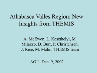 Athabasca Valles Region: New Insights from THEMIS