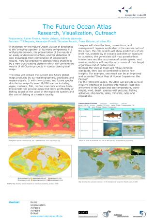 The Future Ocean Atlas Research, Visualization, Outreach