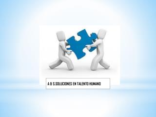 A & S.SOLUCIONES EN TALENTO HUMANO