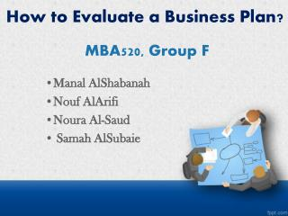 How to Evaluate a Business Plan?