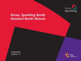 Korea, Sparkling Booth Standard Booth Manual