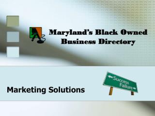 Maryland�s Black Owned Business Directory