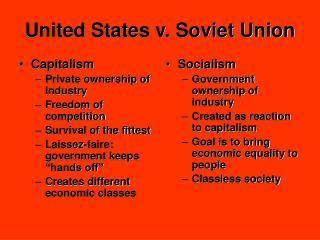 United States v. Soviet Union