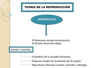 TEORÍA DE LA REPRODUCCIÓN