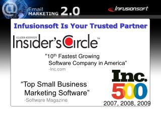 """Top Small Business  Marketing Software"" -Software Magazine"