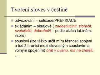 Tvoření sloves v češtině