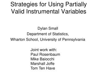 Strategies for Using Partially Valid Instrumental Variables