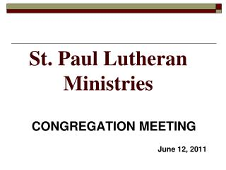 St. Paul Lutheran Ministries