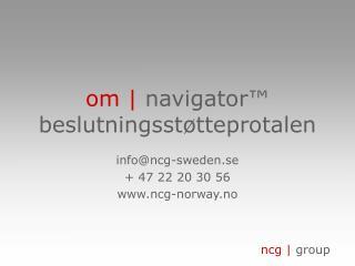 om |  navigator™ beslutningsstøtteprotalen