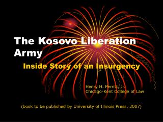 The Kosovo Liberation Army
