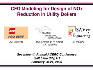 CFD Modeling for Design of NOx Reduction in Utility Boilers