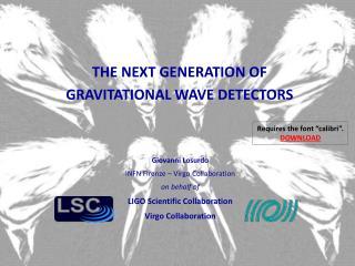 THE NEXT GENERATION OF GRAVITATIONAL WAVE DETECTORS