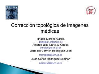 Corrección topológica de  imágenes médicas