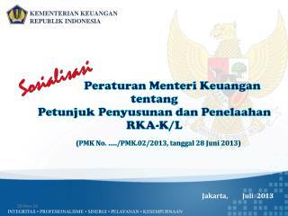 Jakarta,          Ju l i   201 3