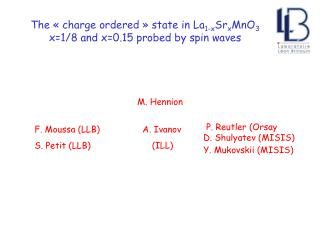 The « charge ordered » state in La 1-x Sr x MnO 3  x=1/8 and x=0.15 probed by spin waves