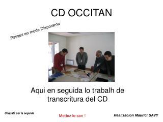 CD OCCITAN