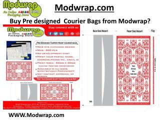 Pre Designed Tamper Proof Courier Bags